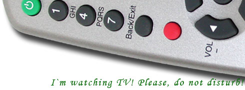 I am watching TV, please, Do Not Disturb!